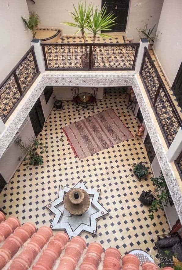 Inside a Riad Morocco