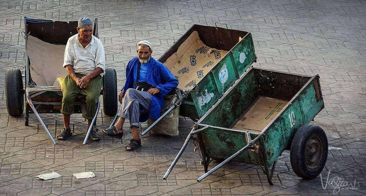 Vendors in Jemaa el-Fna Marrakech Morocco