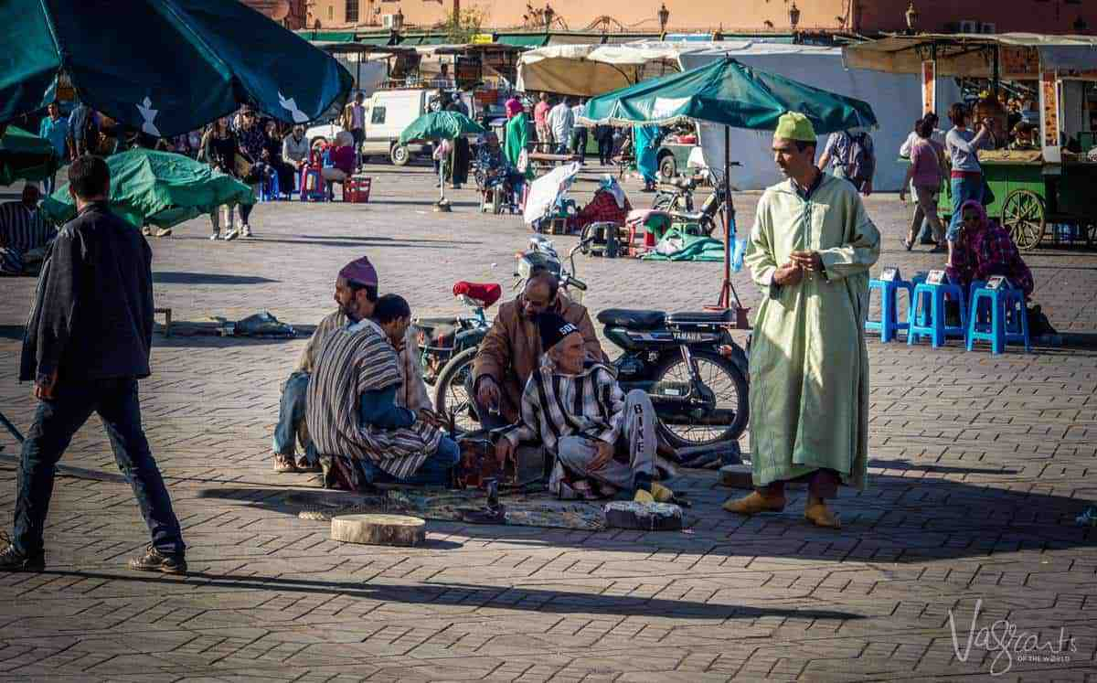 Jemaa el-Fnaa Plaza Marrakech Morocco. free things to do in Marrakech morocco. Is Morrocco safe. Beware of pickpockets in Marrakesh