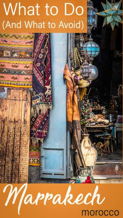 Wondering what to do in Marrakech? Here's a guide to things to do in Marrakech with tips on what to expect and what to avoid for first-time visitors. #morocco #marrakech #traveltips