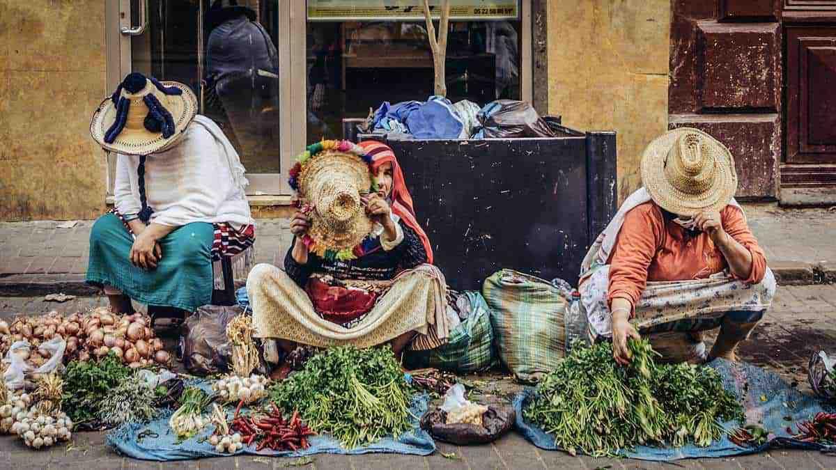 Market ladies Tangier Morocco