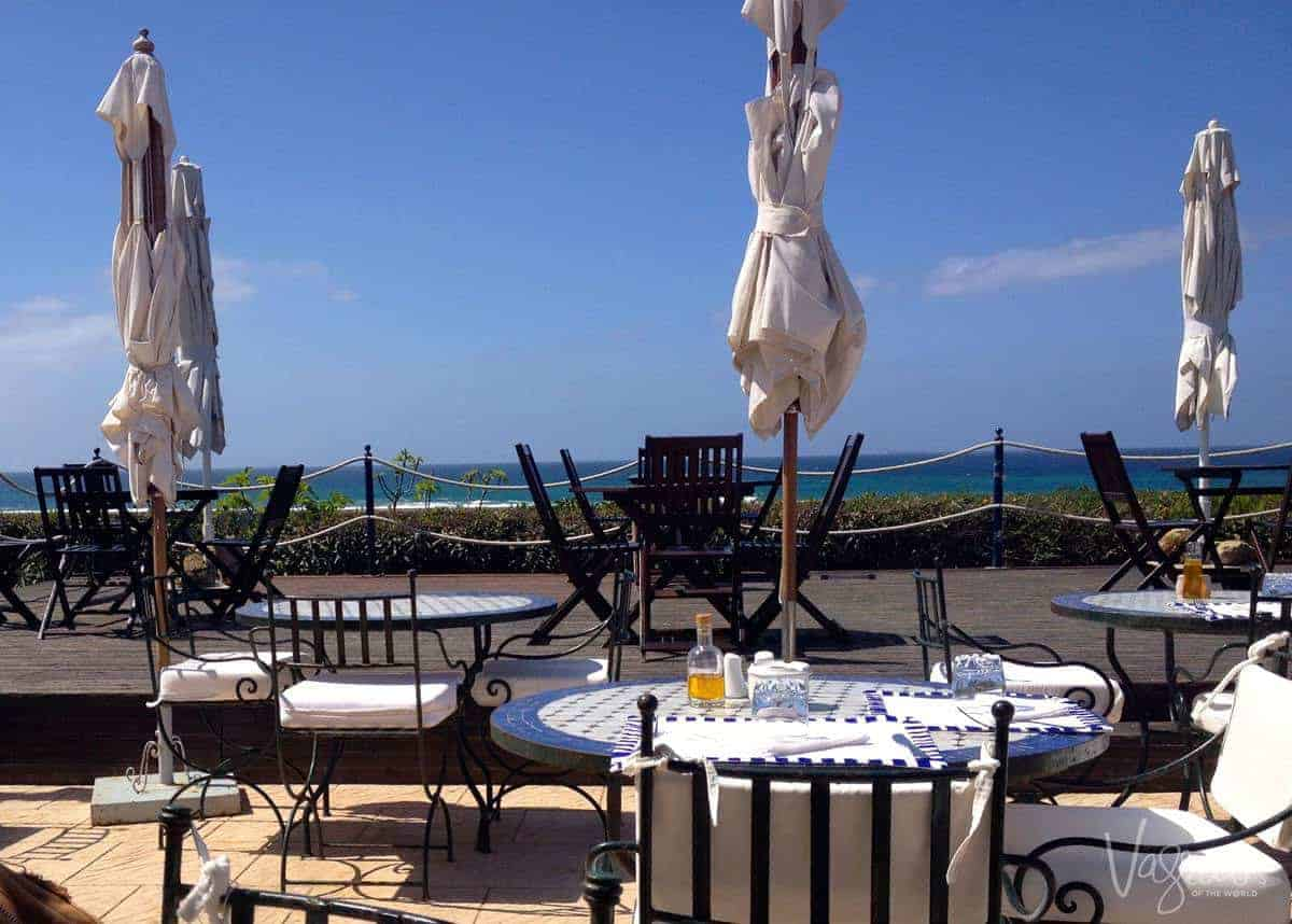 View from L'Ocean Restaurant Sidi Kacem beach Tangier Morocco