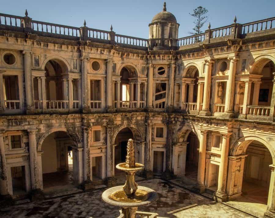 The Knights Templar Castle Convento De Cristo, Tomar Portugal