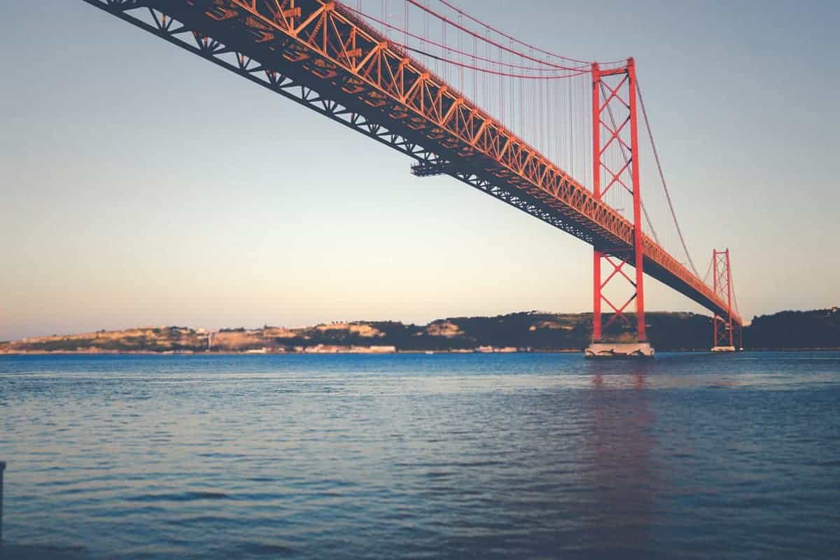 Bridge crossing the river in Lisbon. Best things to do in Lisbon.