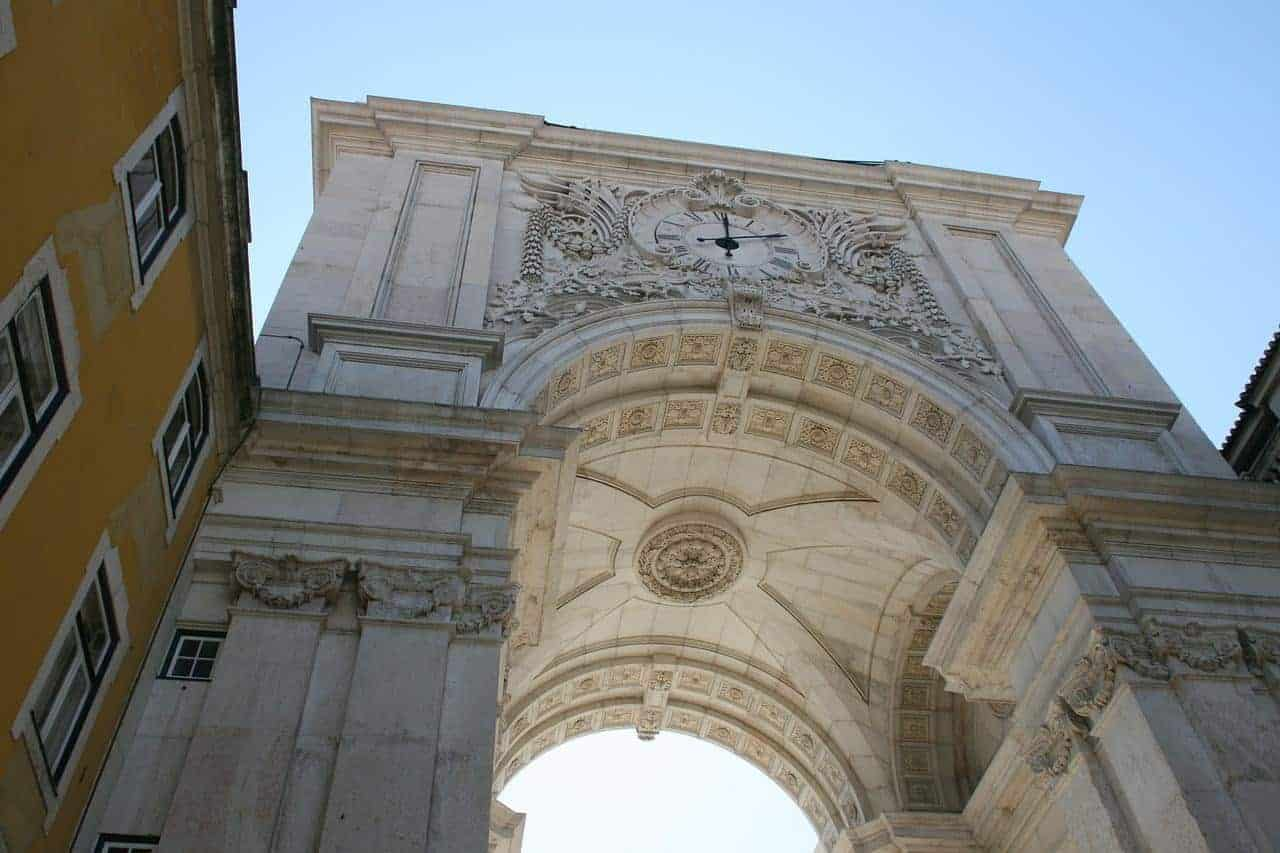 Triumph Arch. Main attractions in Lisbon