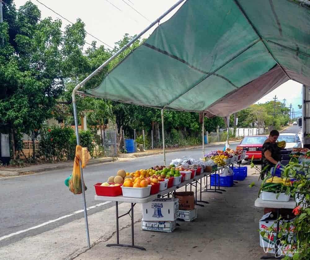 Street Fruit Market Vieques Island