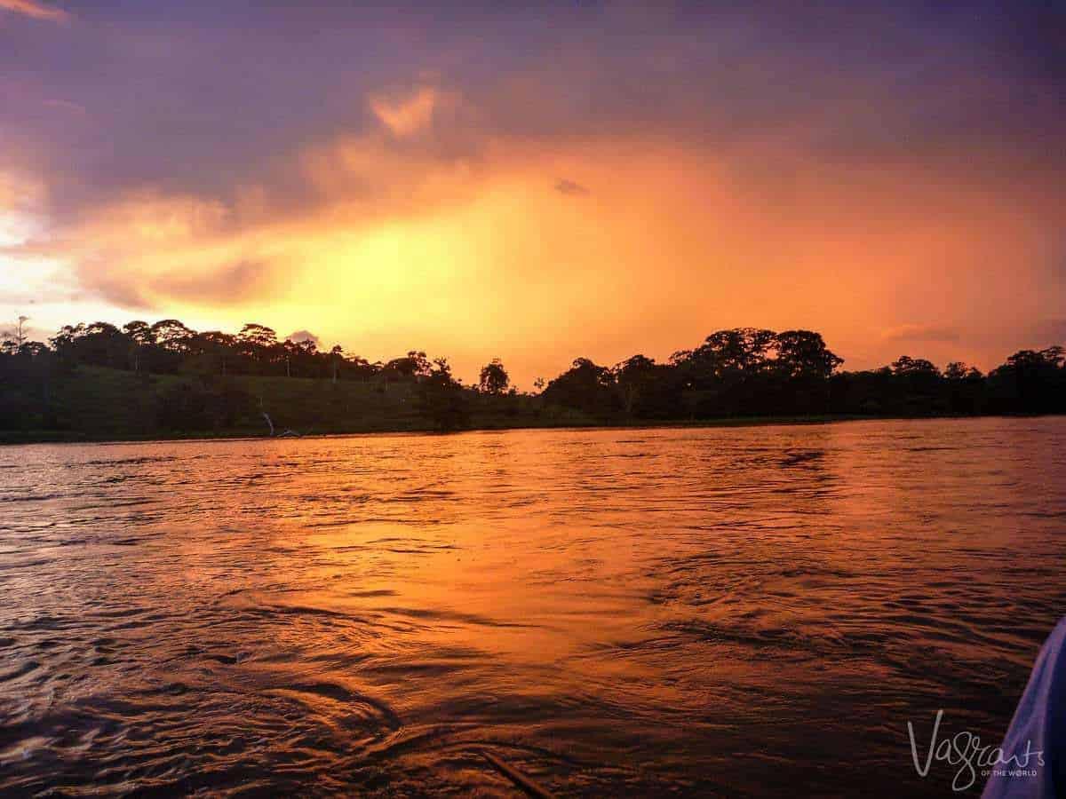Sunset on the Rio San Juan Nicaragua