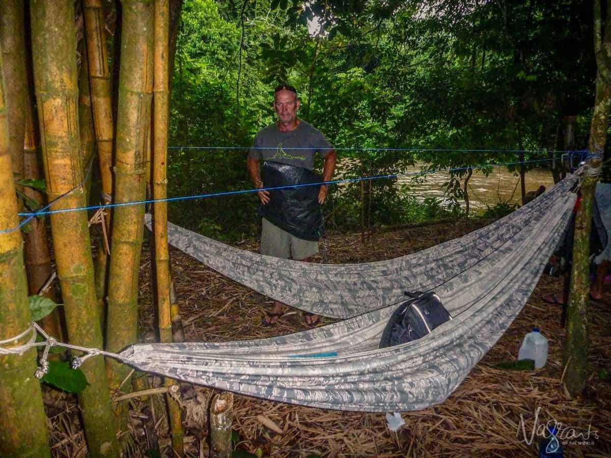 Camping on the Rio San Juan Nicaragua