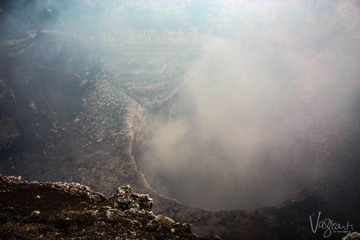Looking into the Masaya Volcano. Masaya Nicaragua