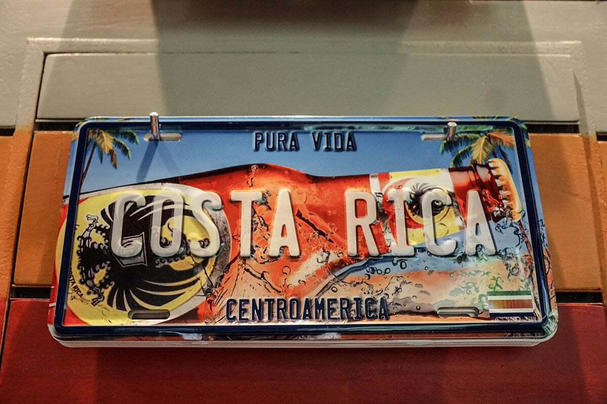 Costa Rica Number Plate