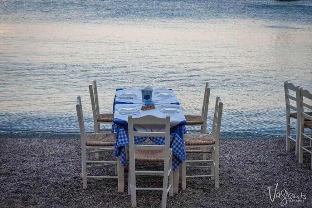 Beach Dining Leros Island Greece