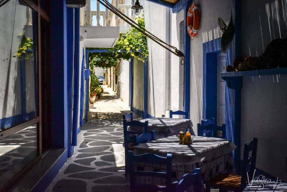 Taverna on Leros Island Greece