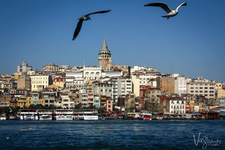 a view of istanbul city from a Bosphorus boat tour Istanbul