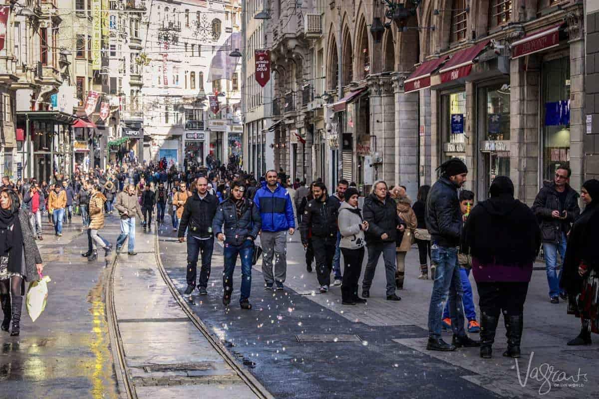 A guide to Istanbul .Istiklal Avenue