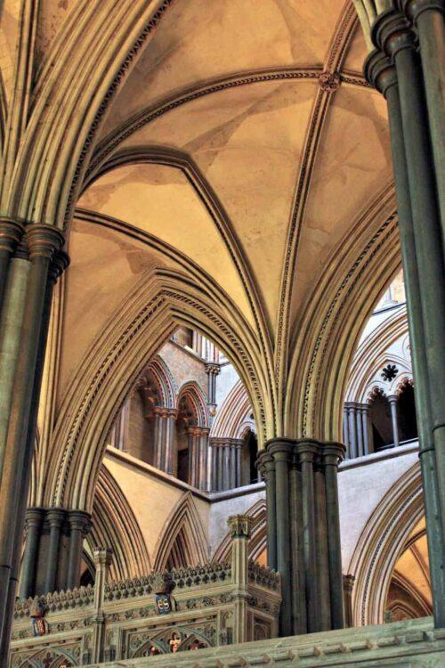 Salisbury Cathedral. From Salisbury to Stonehenge