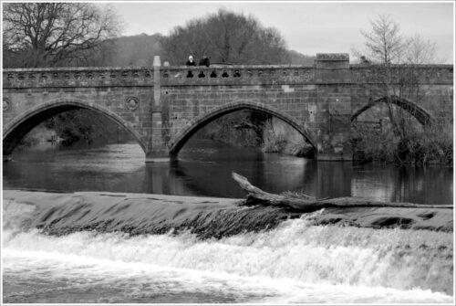 Pulteney Bridge River Avon, Bath England