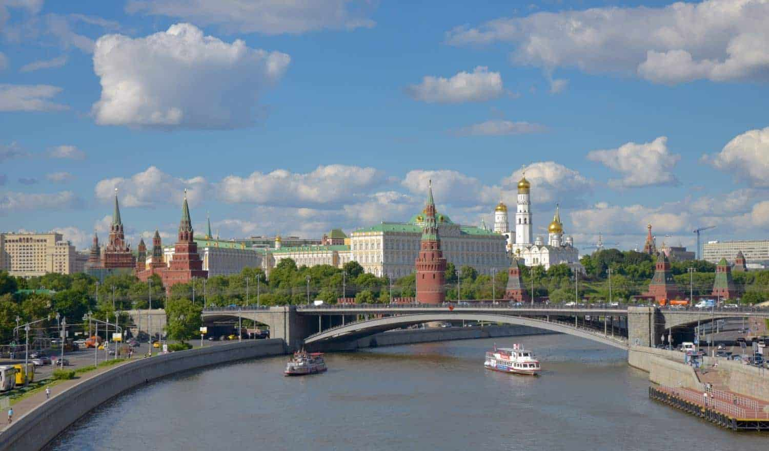 Moscow River Overlooking The Kremlin. Free things to do in Moscow