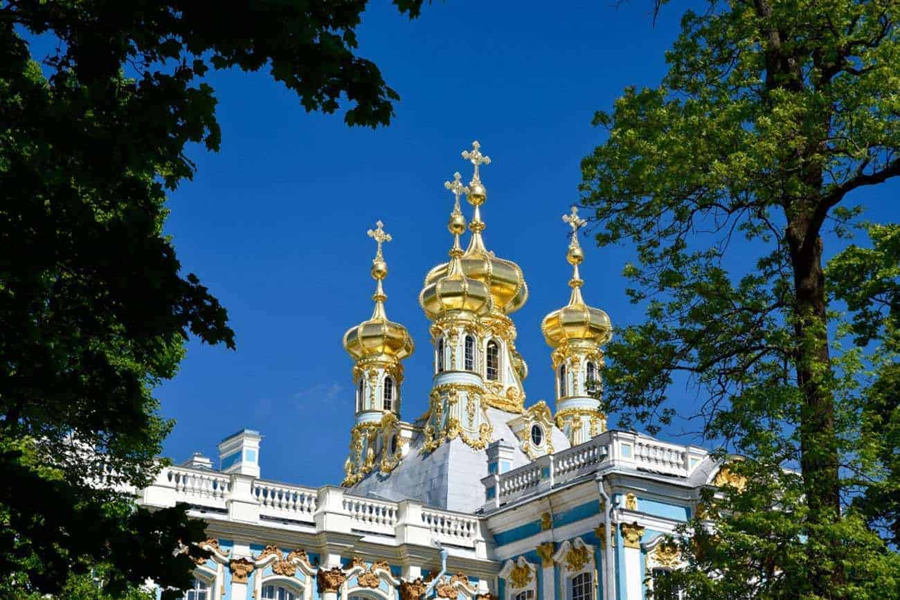 The Catherine Palace St Petersburg Russia.