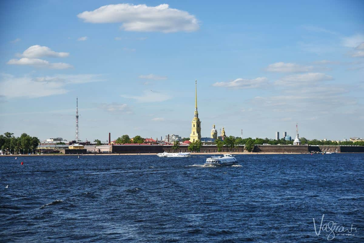 Passenger ferry on the river of St Petersburg. The new Russian e-visa arrives for St Petersburg as from October 1, 2019