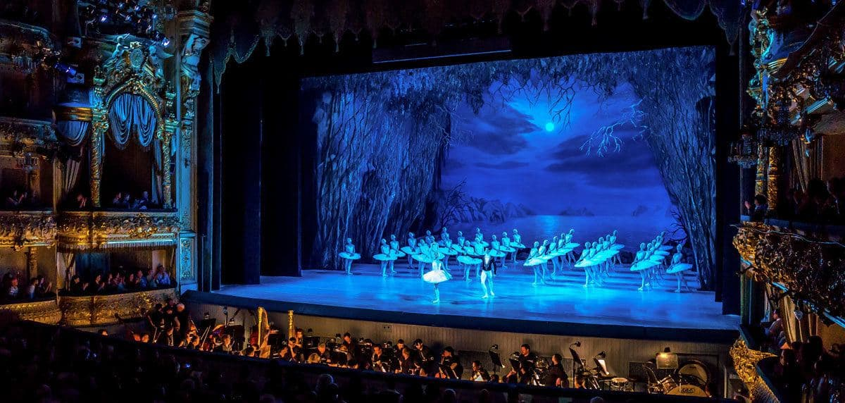 a ballet of swan lake in st petersburg. a unique and unforgettable thing to do in st Petersburg Russia is to go to the ballet.