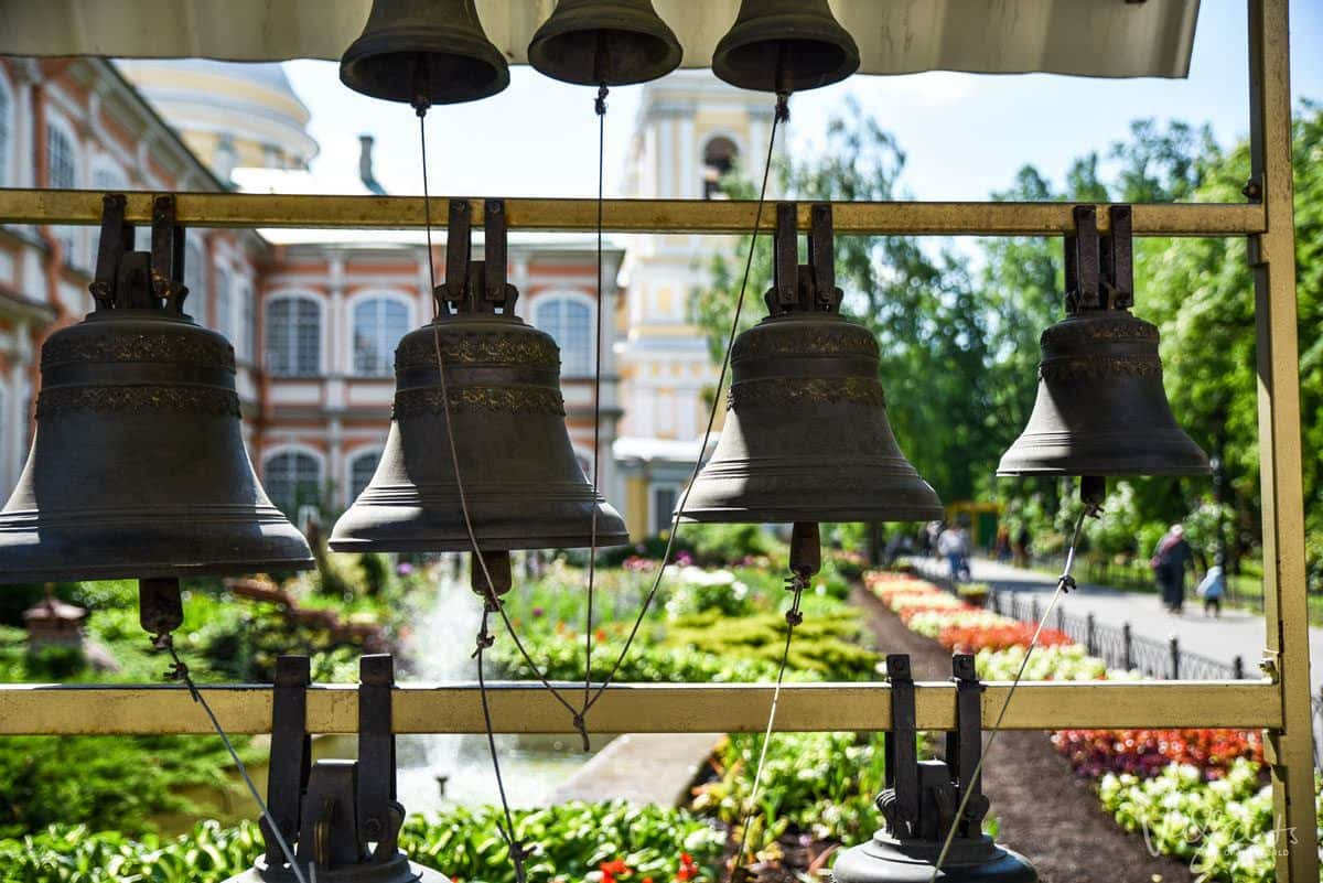 4 bells hanging at the Alexander Nevsky monastery.  There is some much to see and do in St Petersburg.