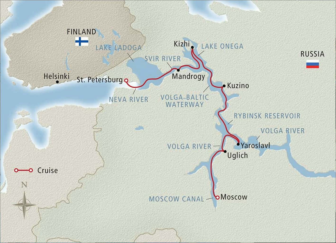 Viking Cruises Waterways Of The Tsars itinerary