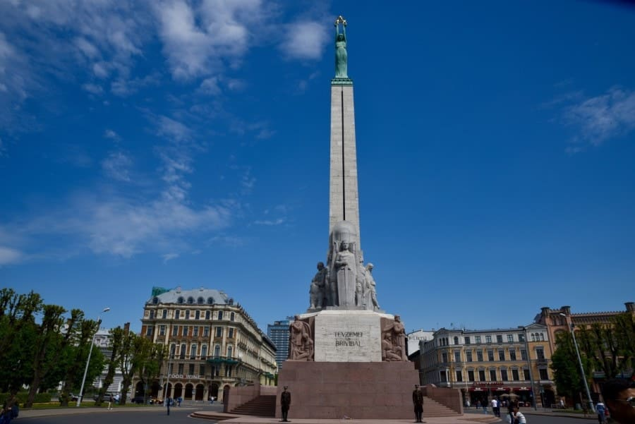 Freedom Monument Riga Latvia. One of the great sights of Riga