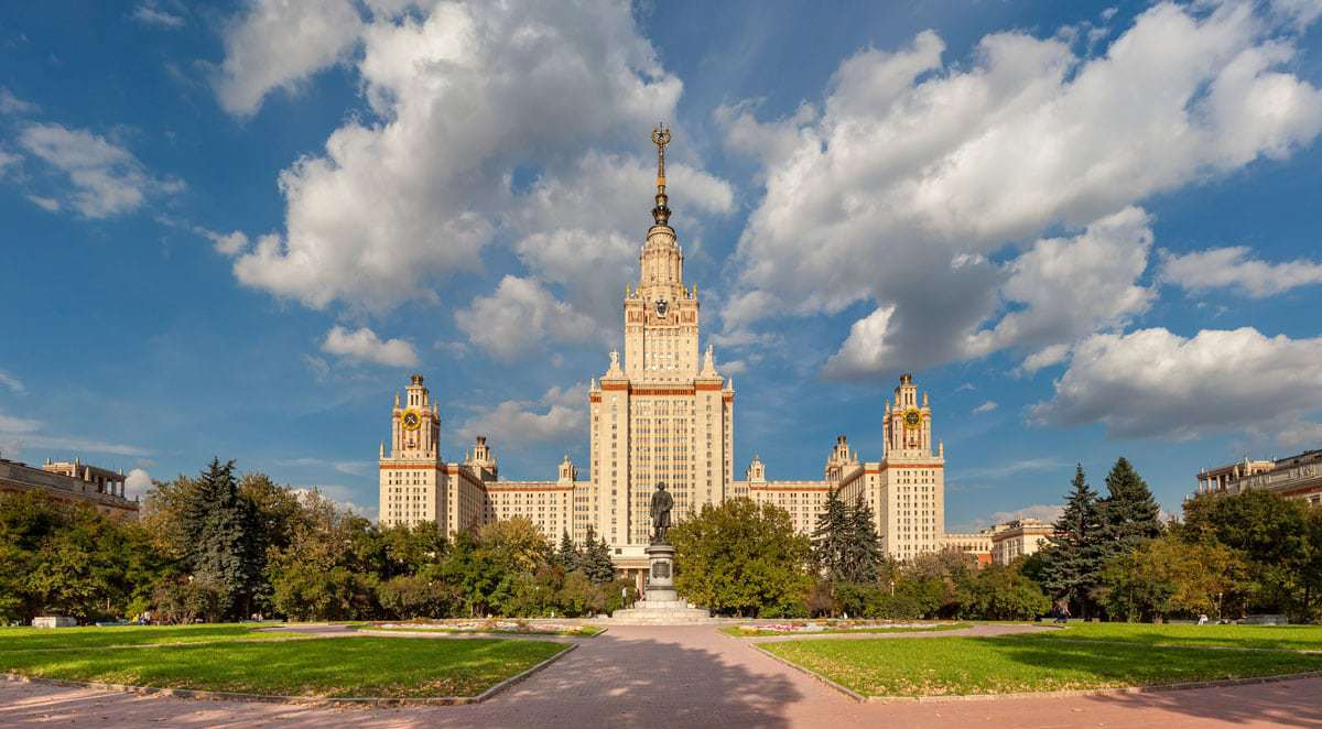 Visit Sparrow Hills in Moscow to see the tallest of Stalin's Seven Sisters Skyscrappers the Moscow State University