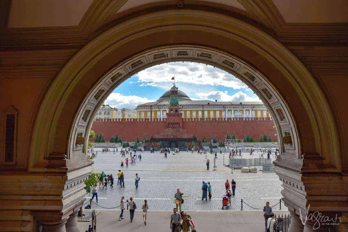 Lenin's Tomb Red Square Moscow Russia. One of the most famous places in russia. and is one of those bucket list places to visit in russia