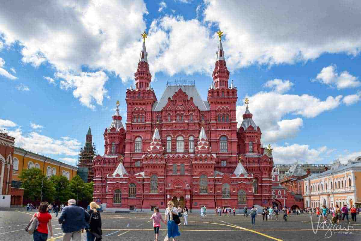 The State Historical Museum Red Square Moscow. If you are visiting russia first time then do not miss these famous places in Russia
