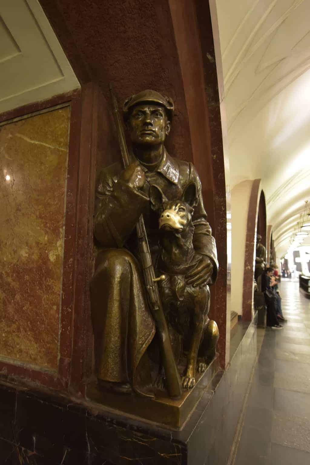 Ploshchad Revolyutsii Metro Station (Revolution Square)