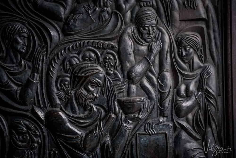 Places to see in Bulgaria- Ornate doors of the Patriarchal Cathedral St Ascension Church Tsarevets
