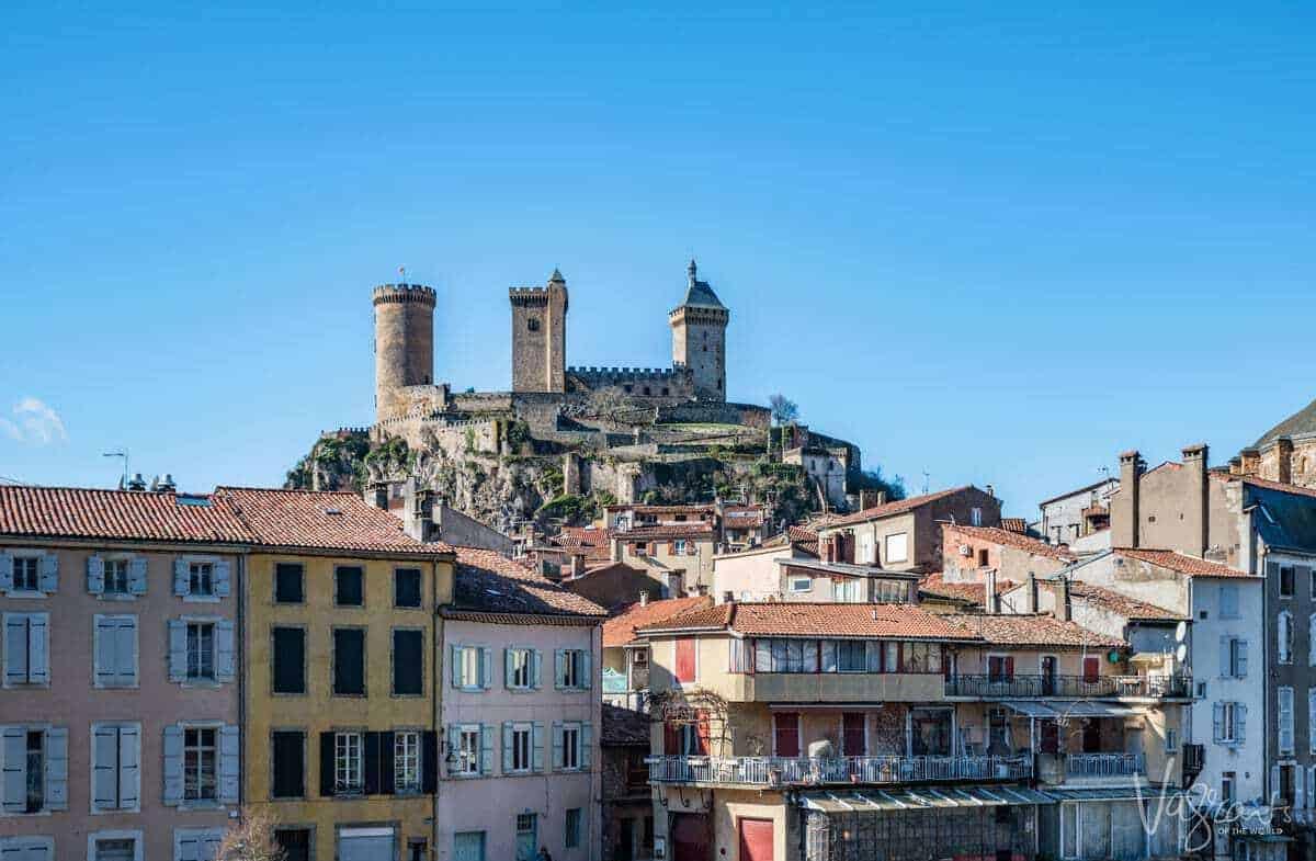 Foix castle Ariege Midi Pyrenees