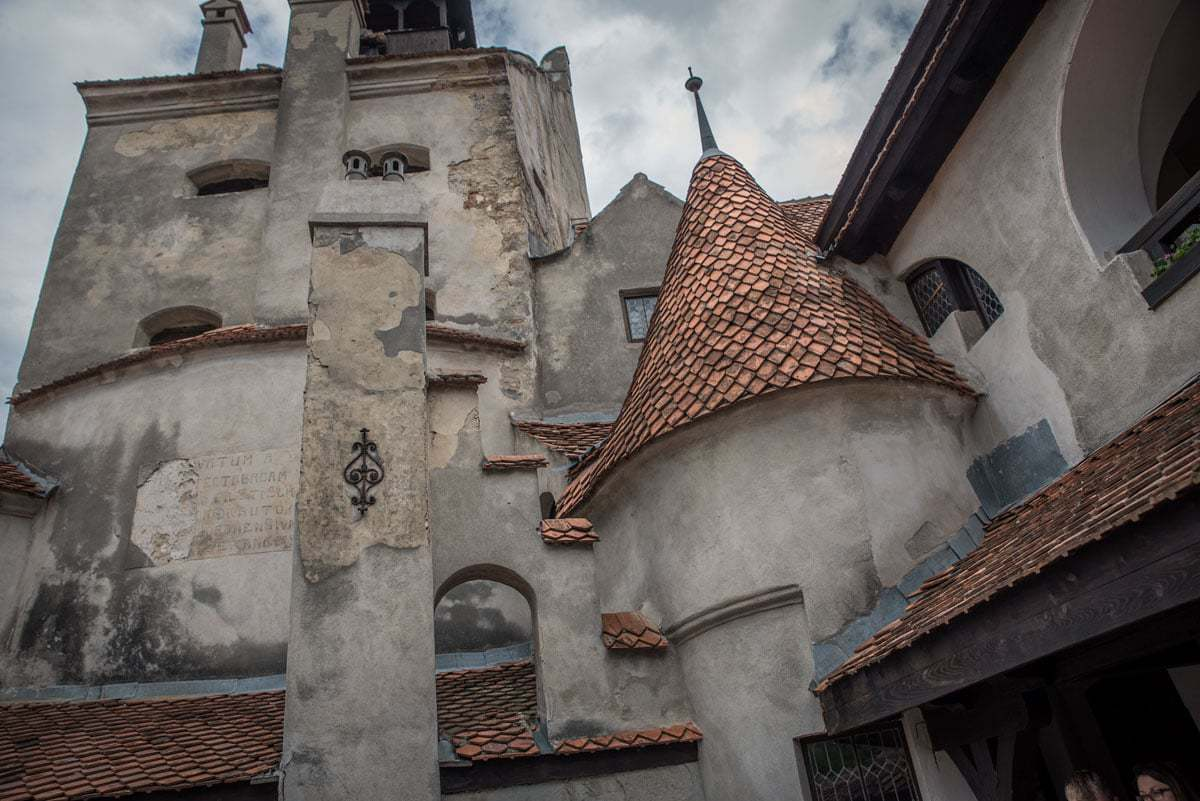 The parapets and brass tiles of dracula's castle romania, best things to see and do in romania