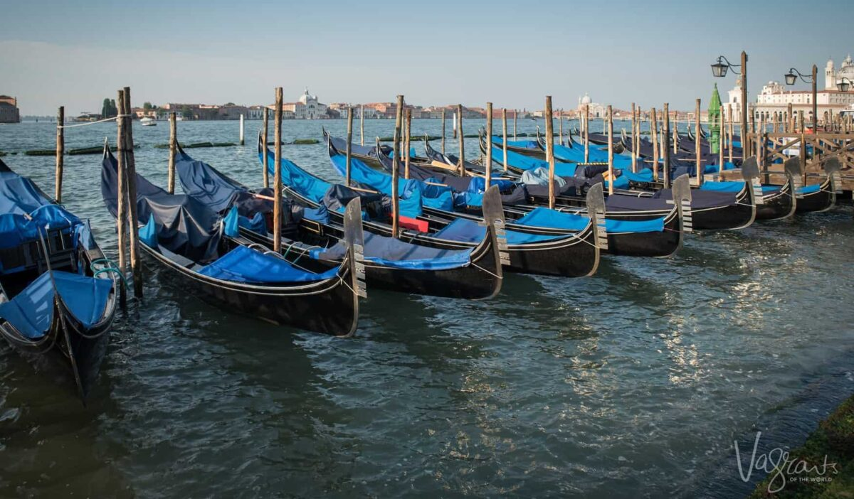 5 Days in Venice - Gondolas at St Marks Square