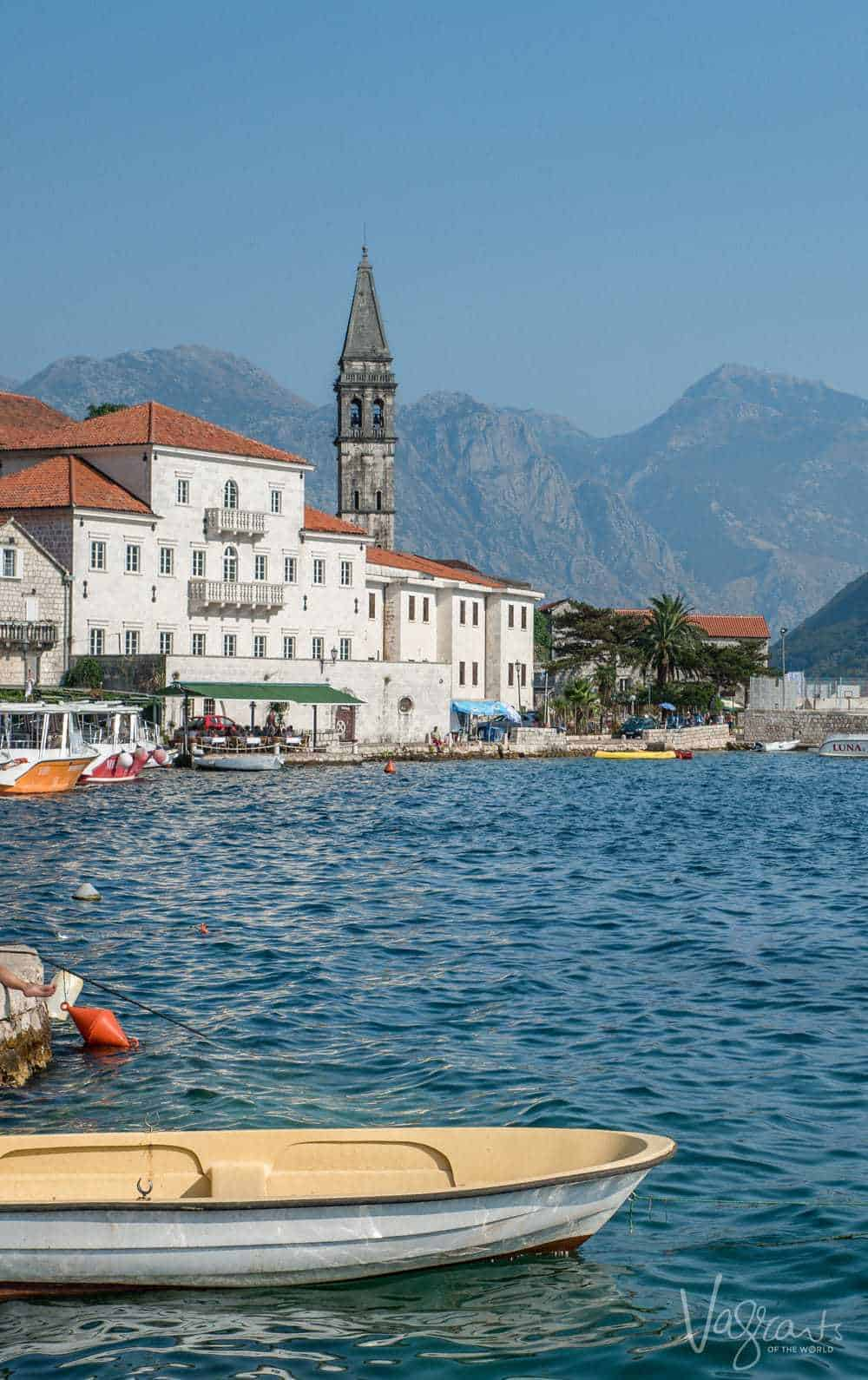 The town of Perast on the bay of Kotor Montenegro.