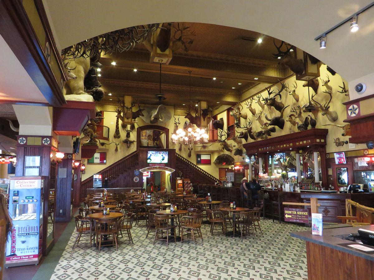 Inside the Buckhorn Saloon in San Antonio.