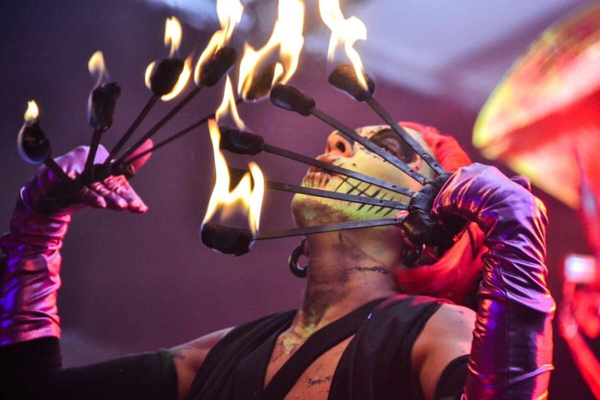 Fire breather at a San Antonio Festival.