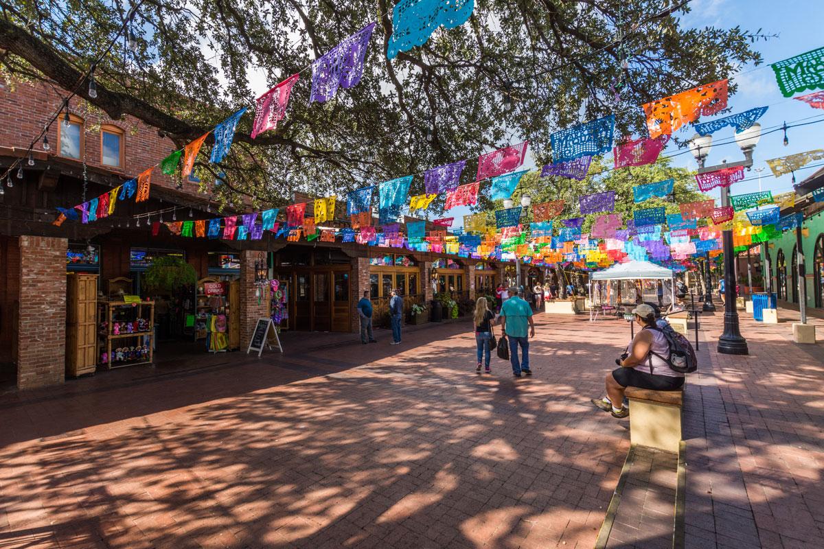 The colourful San Antonio Market square.
