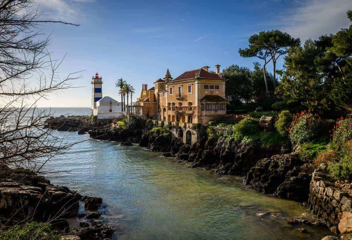 Stream out towards the sea and light house Cascais Portugal. Best places to visit in Portugal