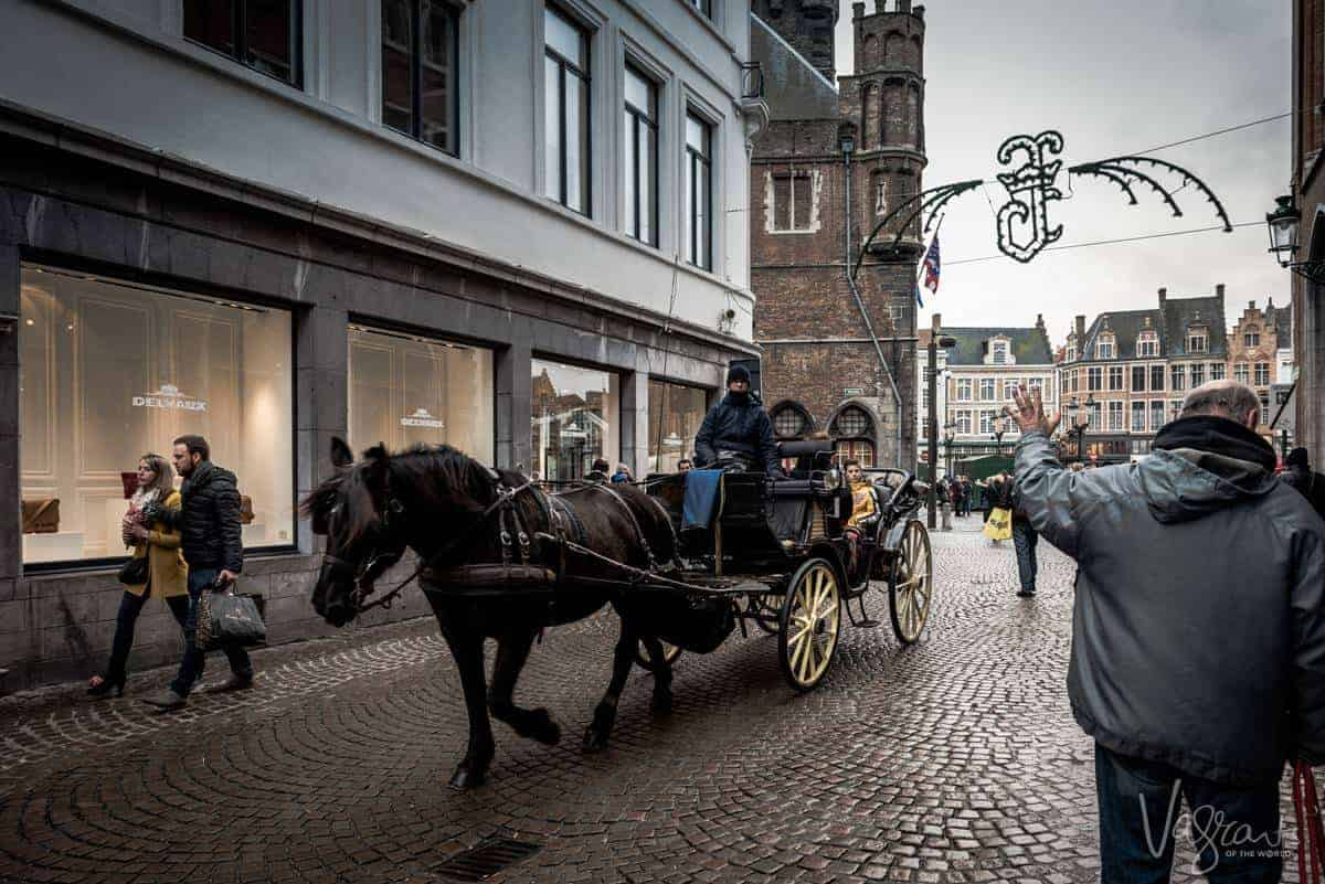 Things to do in Bruges. Horse and carriage rides