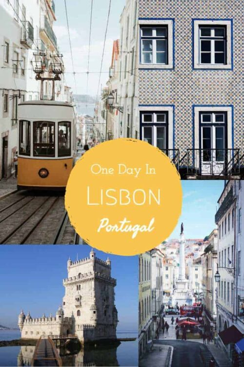 A one day in Lisbon Itinerary. Plus added day trips from Lisbon. #portugal #lisbon #traveltips