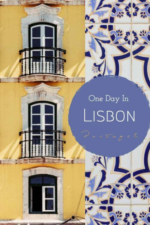 Only have one day in Lisbon? Here is the perfect one day Lisbon itinerary. #portugal #lisbon #traveltips