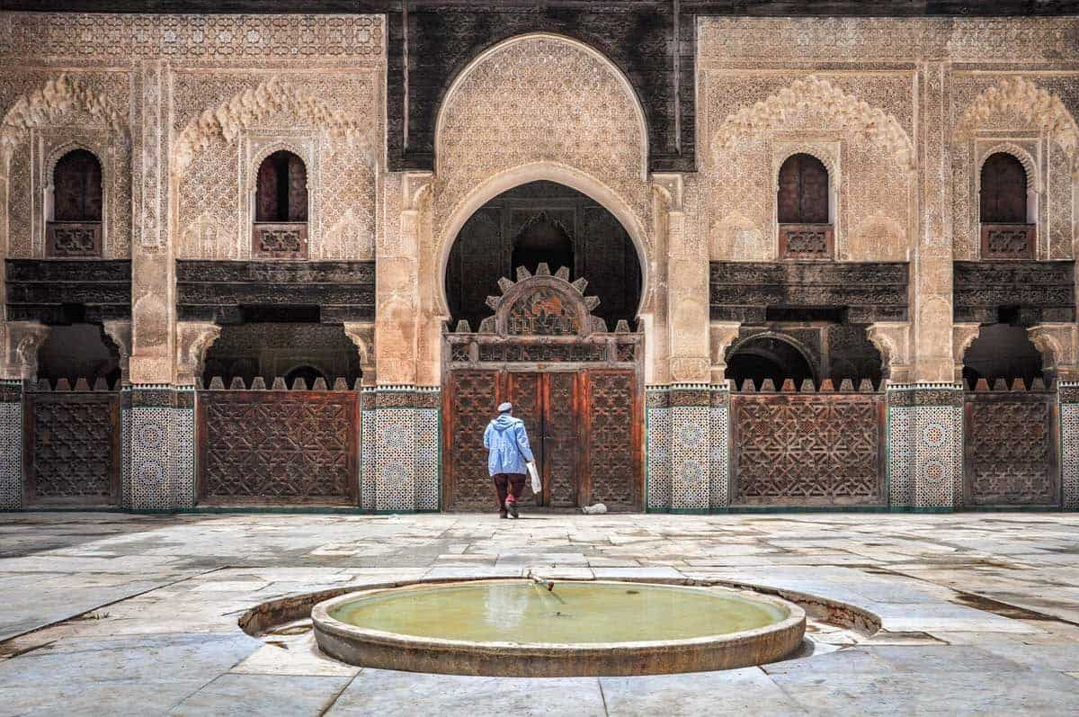 One of the most popular things to do in Fez is visit the Bou Inania Medersa