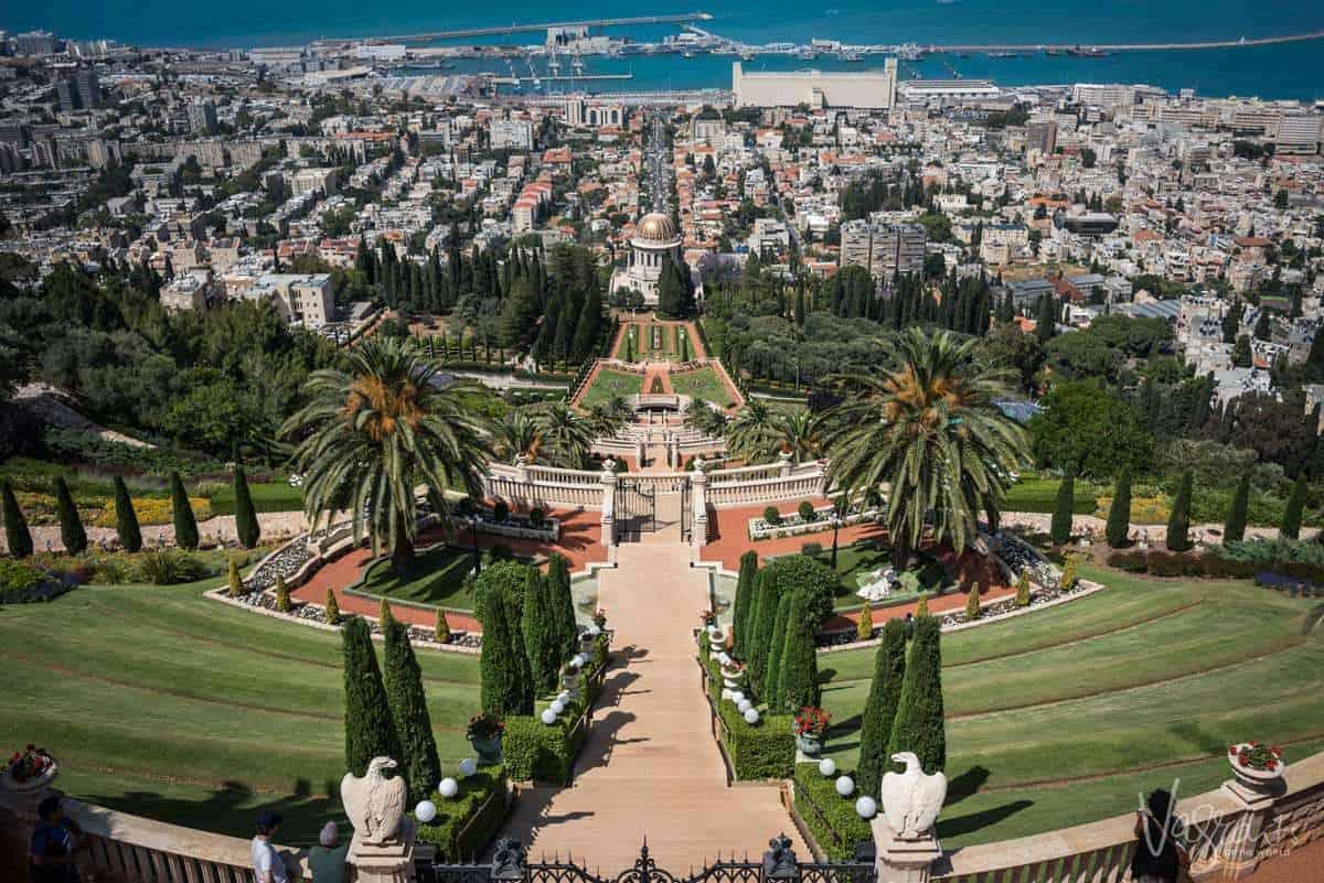 Luxury Small Group Tours of Israel -Baha'i Gardens-Haifa