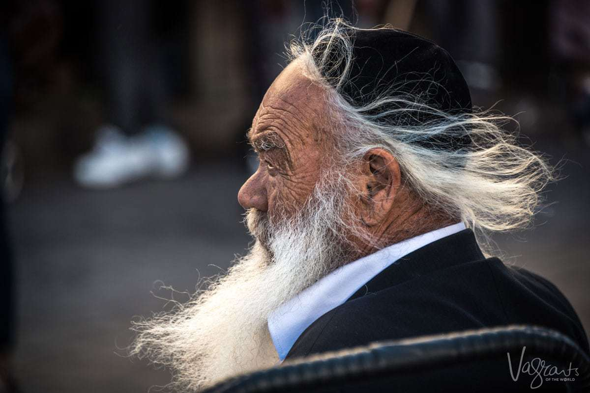 Things to do in Israel - An old Jewish man sitting
