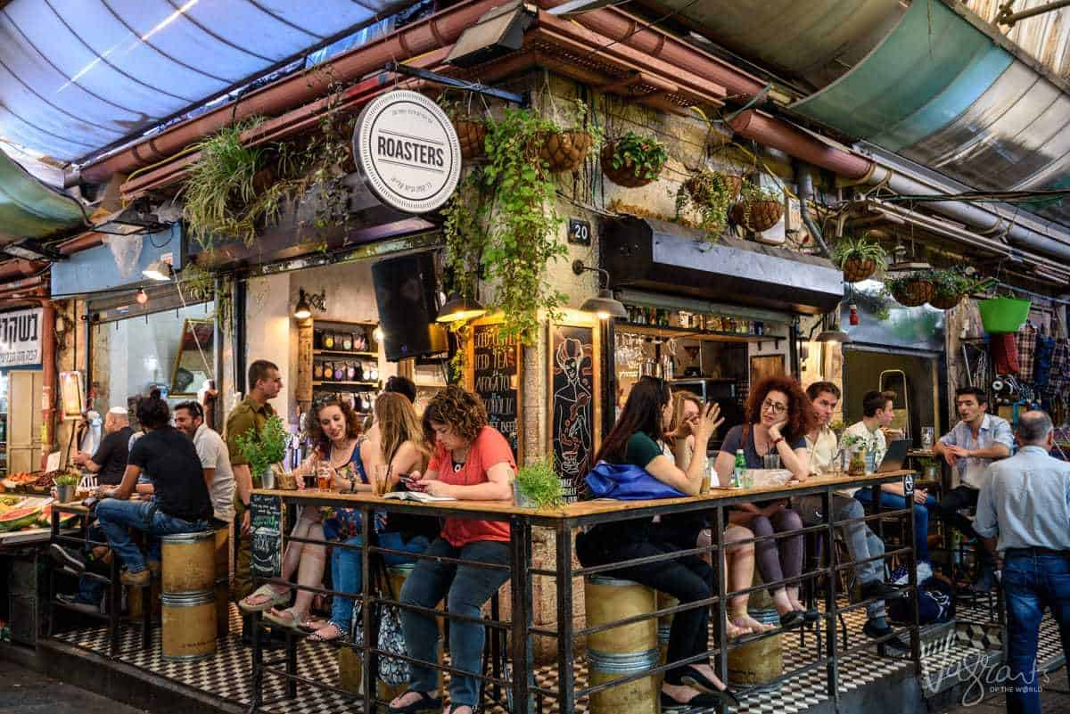 Photos of Israel - Pop up bars have become popular in Machane Yehuda Market