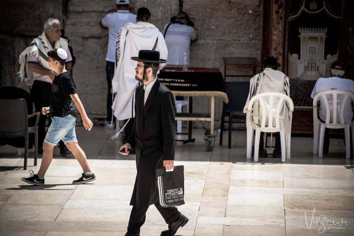 Travel to Israel - An orthodox Jew after prayer at the Western Wall