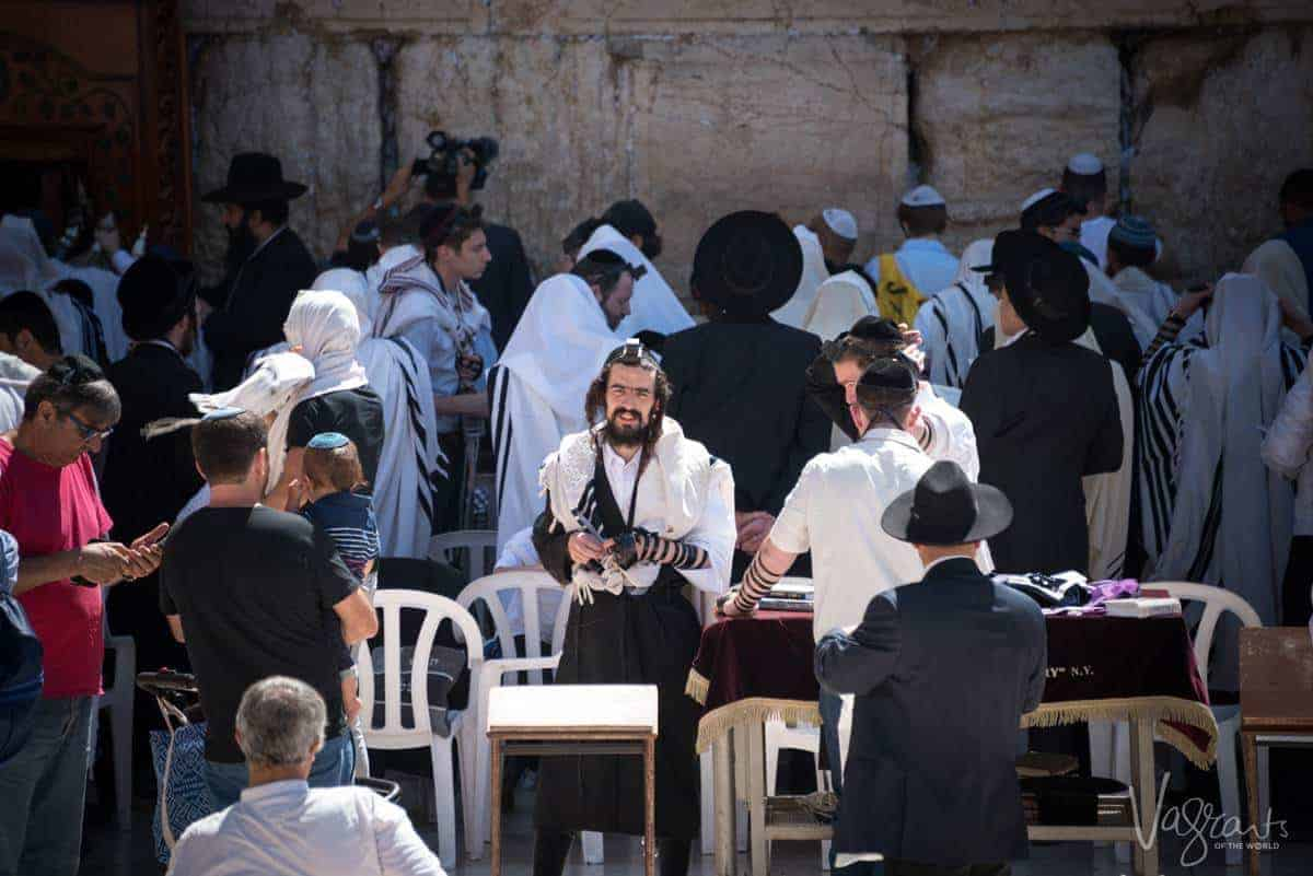 Places to visit in Israel - Prayer time at the Western Wall Jerusalem