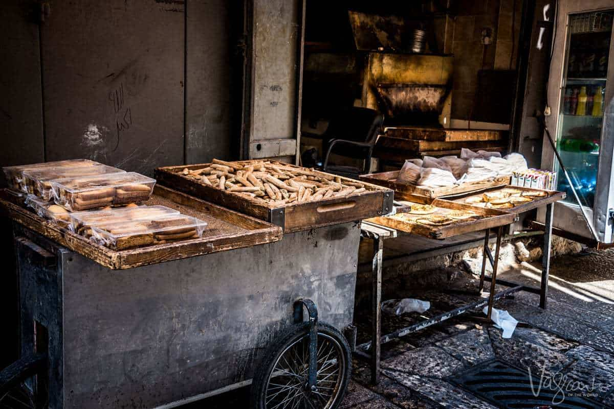 Best time to visit Israel- A small bakery in the Muslim quarter, Old City, Jerusalem